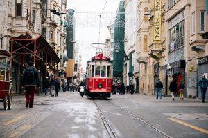 streetcar, trolley, streets